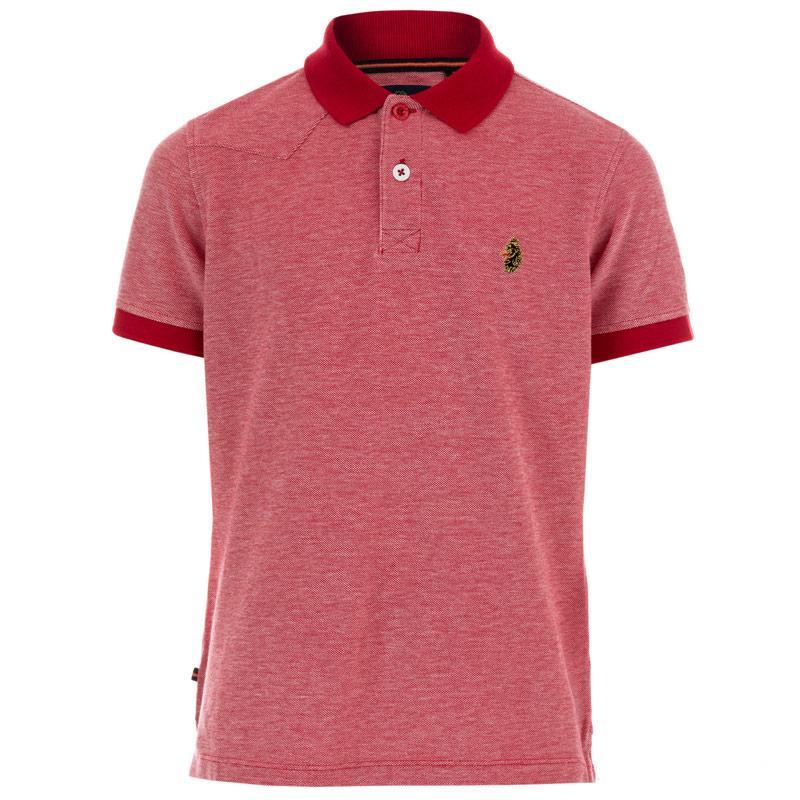 Tričko Luke 1977 Junior Boys JH10 Polo Shirt Red
