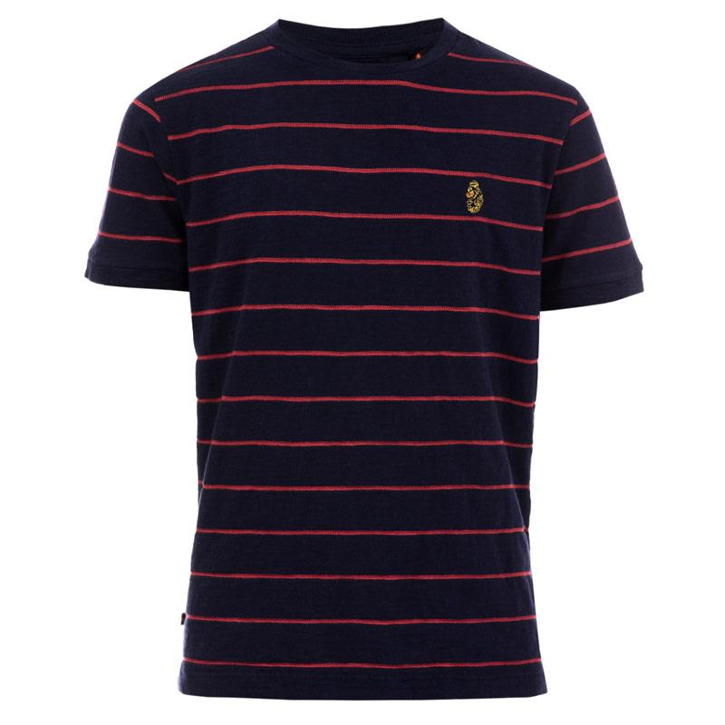 Tričko Luke 1977 Junior Boys Salina Striped Crew T-Shirt Navy