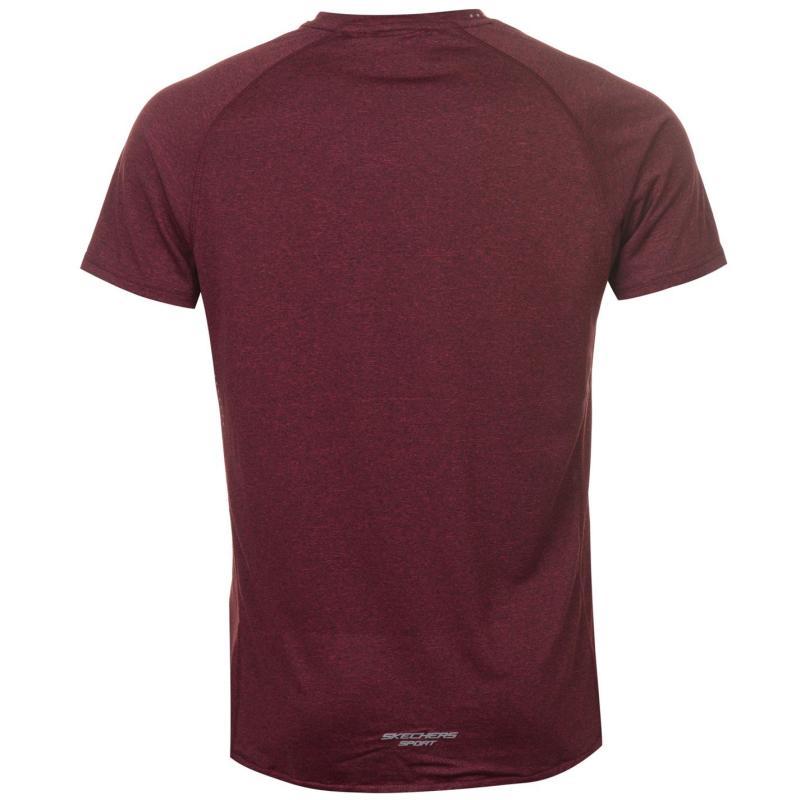 Tričko Skechers Discovery T Shirt Mens Burgundy