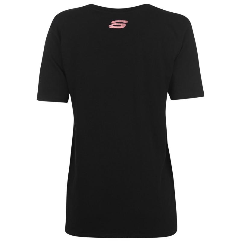 Skechers Jersey T Shirt Ladies White