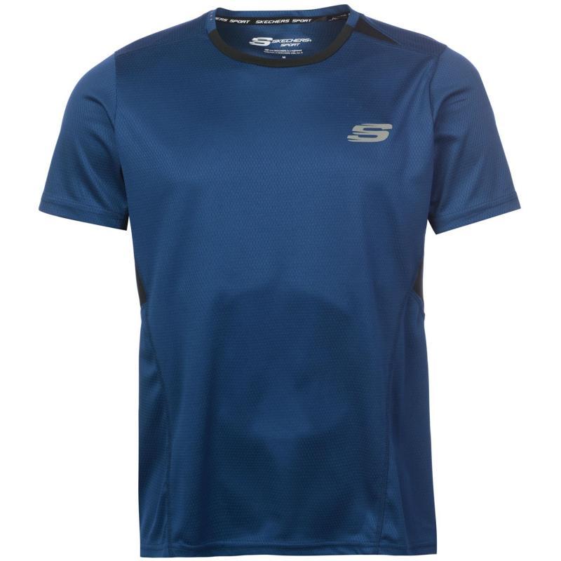 Tričko Skechers Neo Textured T Shirt Mens Black