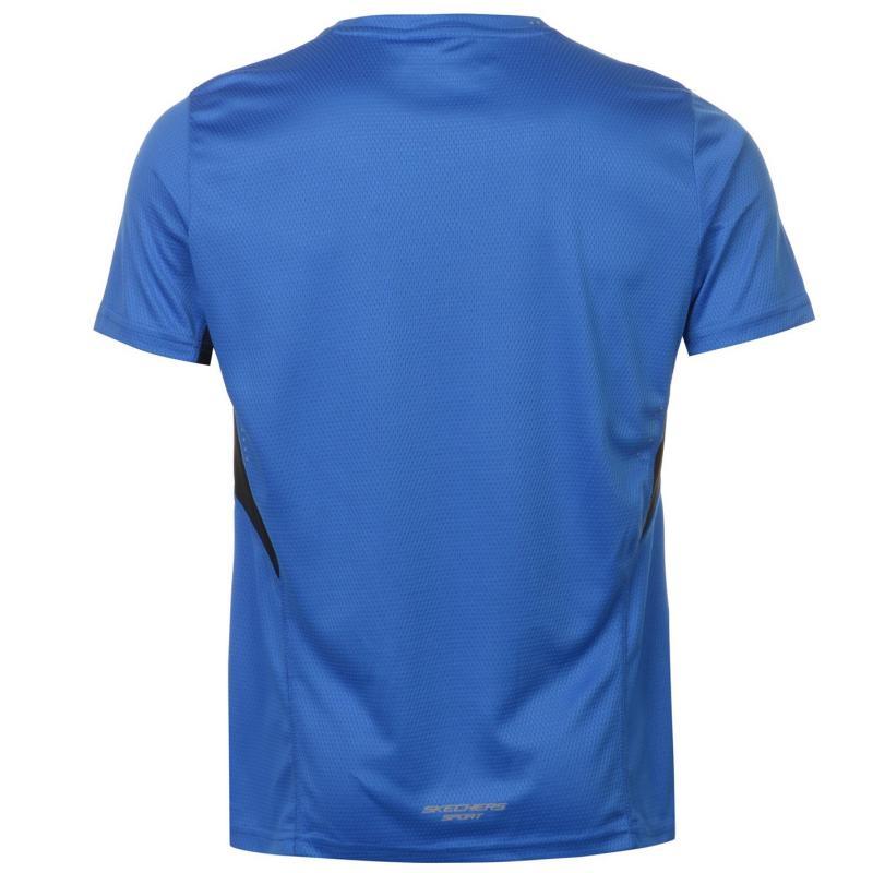 Tričko Skechers Neo Textured T Shirt Mens Blue