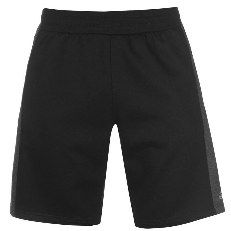 Skechers Panelled Fleece Shorts Mens Grey Marl