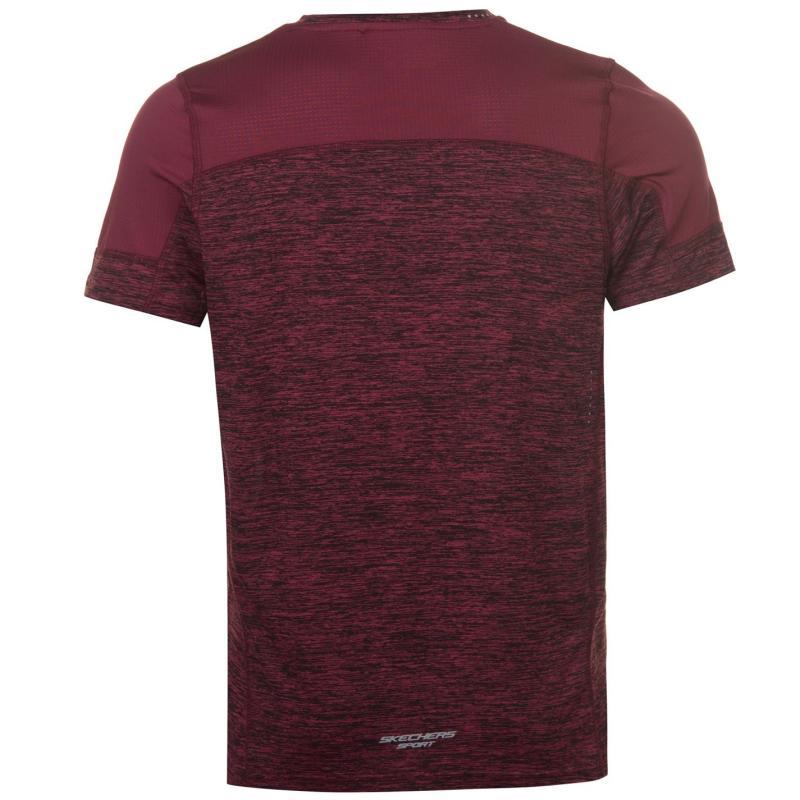 Tričko Skechers Pulsar Shirt Mens Burgundy