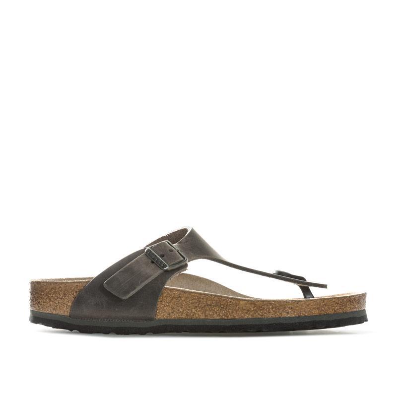 Boty Birkenstock Womens Gizeh Soft Footbed Sandals Narrow Width Grey