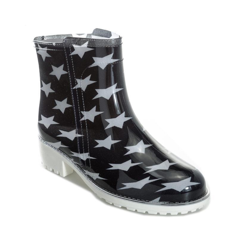 Glamorous Womens Star Wellington Boots Black
