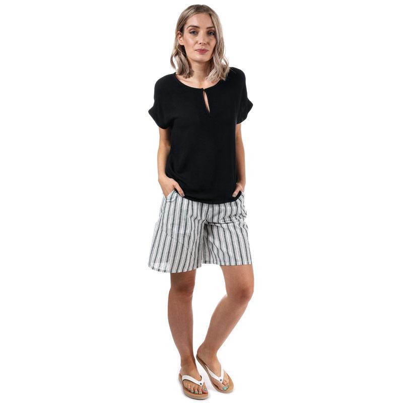 Glamorous Womens Striped Shorts Cream