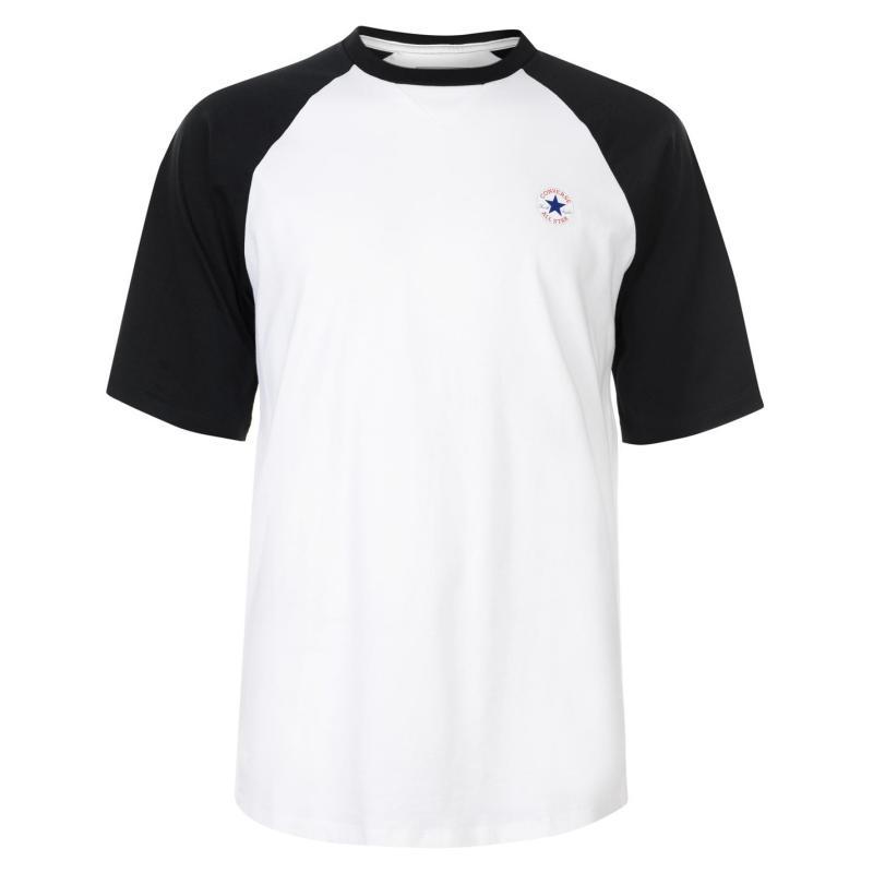Tričko Converse Short Sleeve Raglan T Shirt White/Obsidian