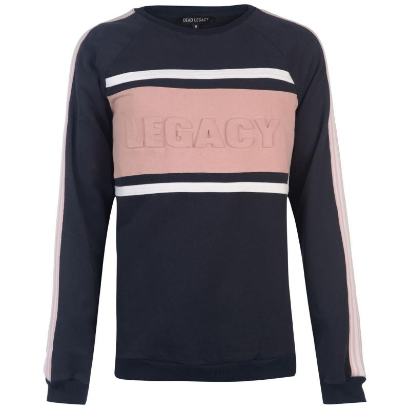 Mikina Dead Legacy Embossed Sweatshirt White/Lilac