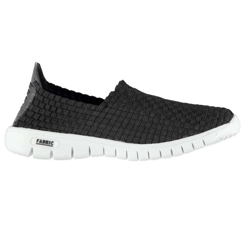 Fabric Flyer Mens Slip On Shoes Black/White