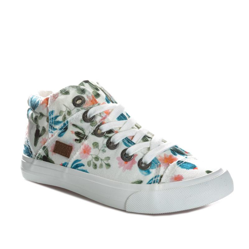 Blowfish Malibu Junior Girls Miguel Prickly Print Mid Pump White