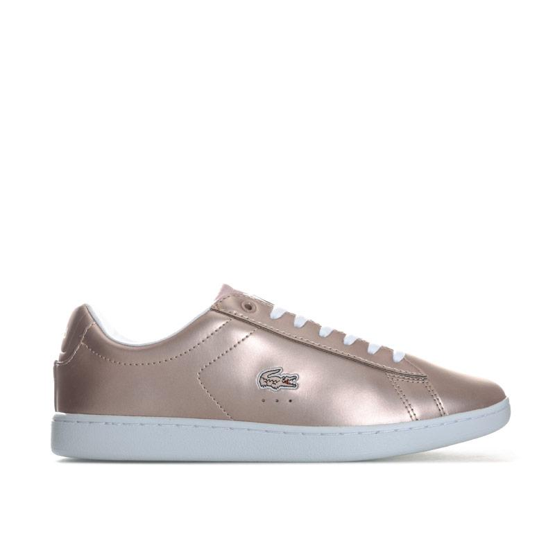 Lacoste Womens Carnaby Evo Metallic Trainers Pink
