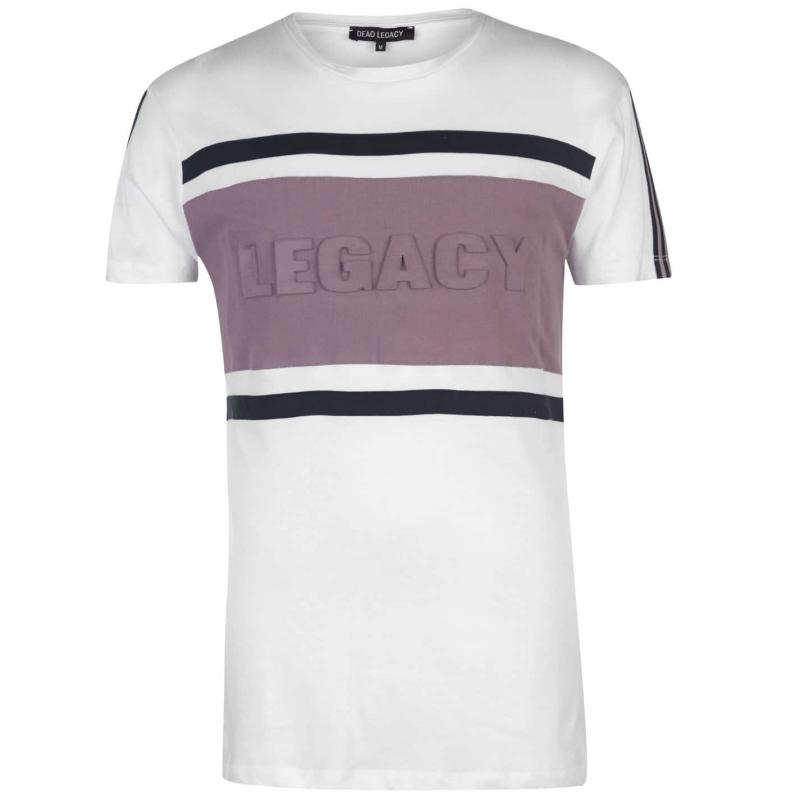 Tričko Dead Legacy Embossed Tee White/Lilac Velikost - L