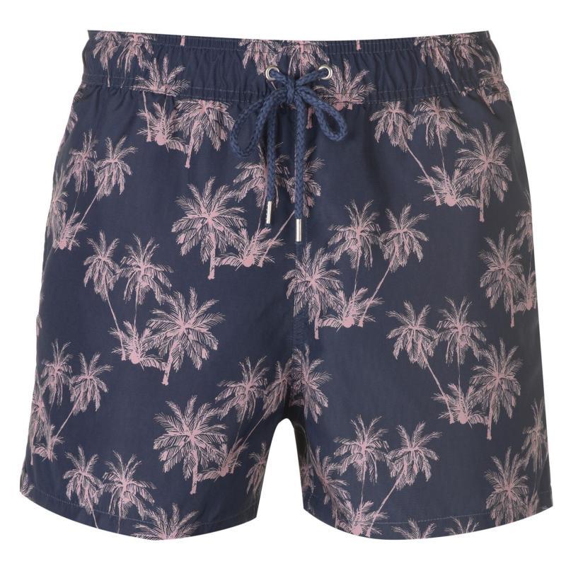Dead Legacy Palm Swim Shorts Navy/Pink
