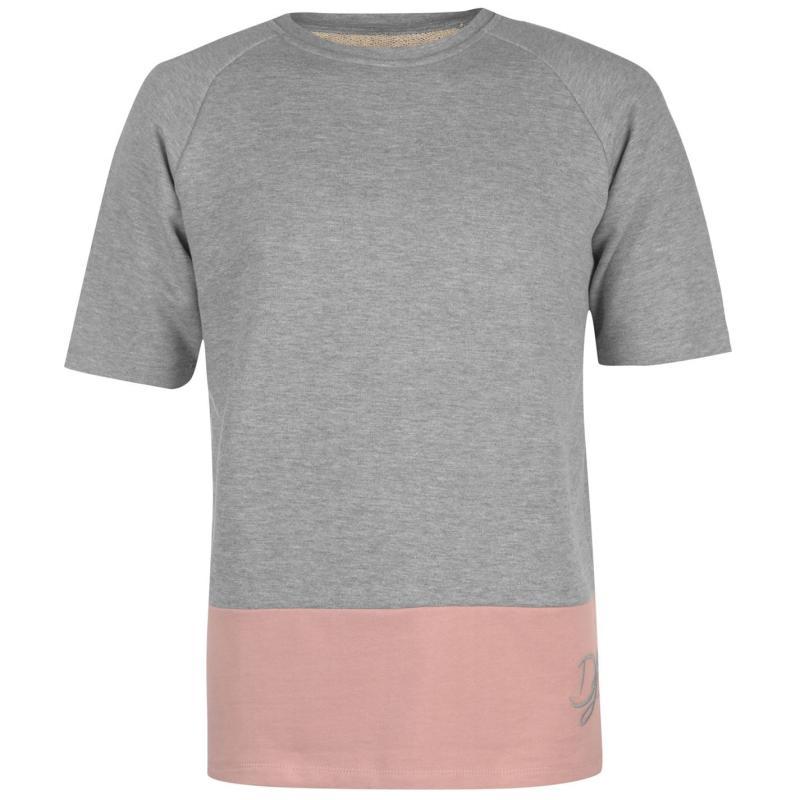 Mikina Dead Legacy Short Sleeve Sweatshirt Grey/Pink Velikost - XL