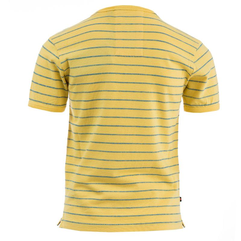 Tričko Luke 1977 Infant Boys Ex Mark Striped Crew T-Shirt Lemon