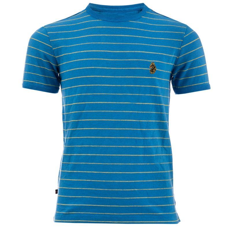 Tričko Luke 1977 Infant Boys Ex Mark Striped Crew T-Shirt Red