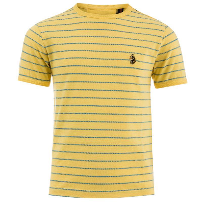 Tričko Luke 1977 Infant Boys Ex Mark Striped Crew T-Shirt Lemon