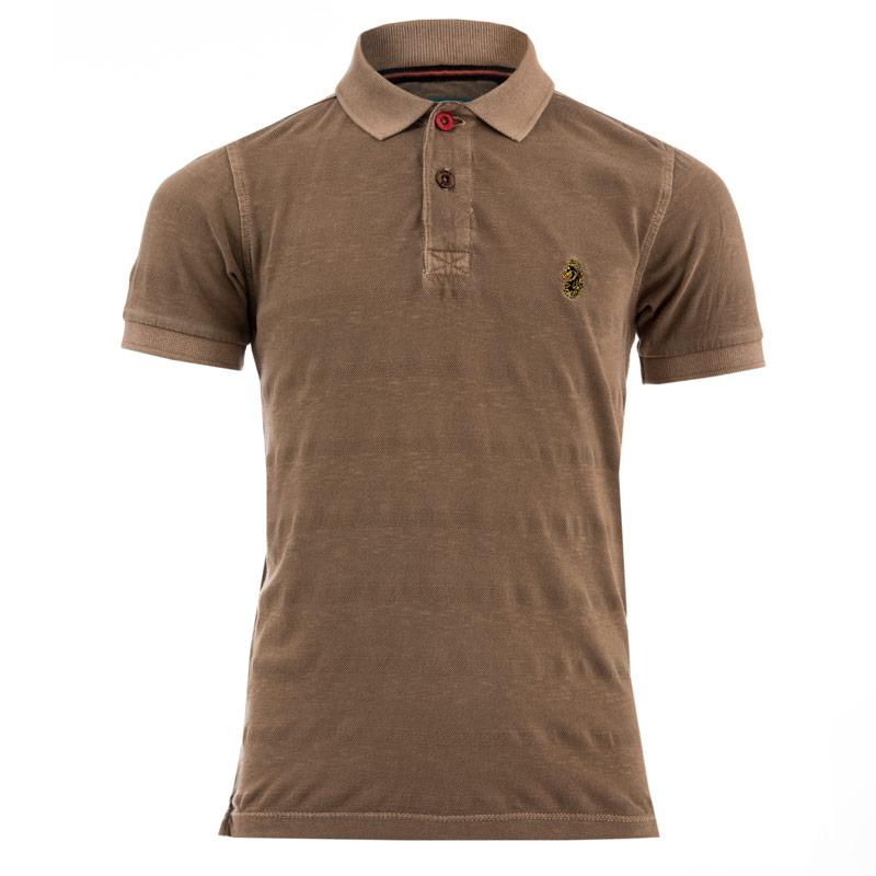 Tričko Luke 1977 Infant Boys Jive Polo Shirt Sand