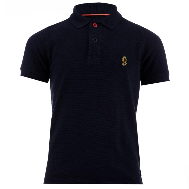 Tričko Luke 1977 Infant Boys Parched Polo Shirt Black