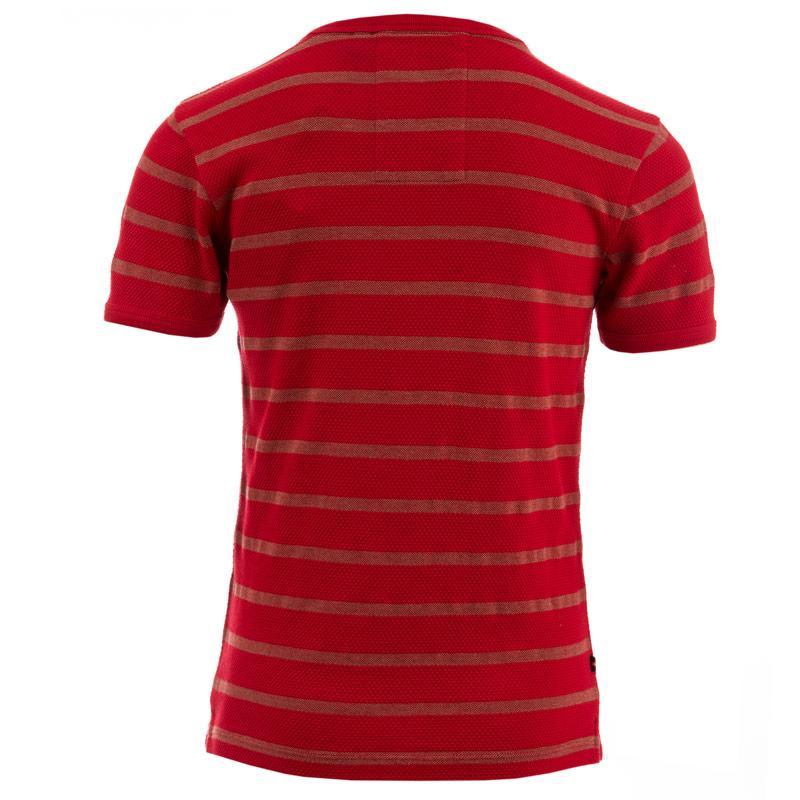 Tričko Luke 1977 Infant Boys Treasure Striped T-Shirt Red