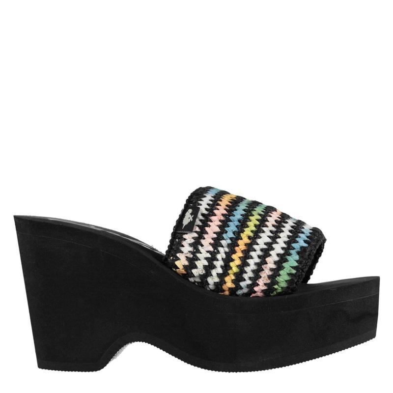 Boty Rocket Dog Hills Hazey Heeled Sandal Ladies Black/Multi