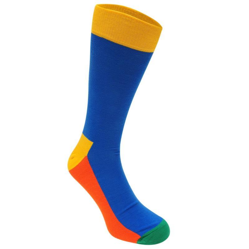 Ponožky Happy Socks 3 Pack Colour Block Socks Blu/Blk/Gry