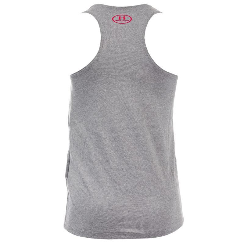 Under Armour Infant Girls Big Logo Slash Tank Top Grey
