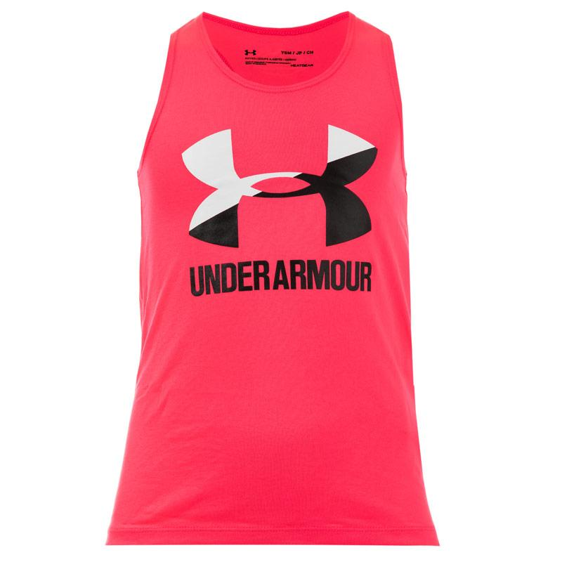 Under Armour Infant Girls Big Logo Slash Tank Top Pink