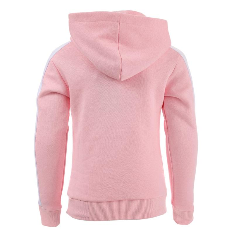 Beck And Hersey Junior Girls Logo Hoody Pink