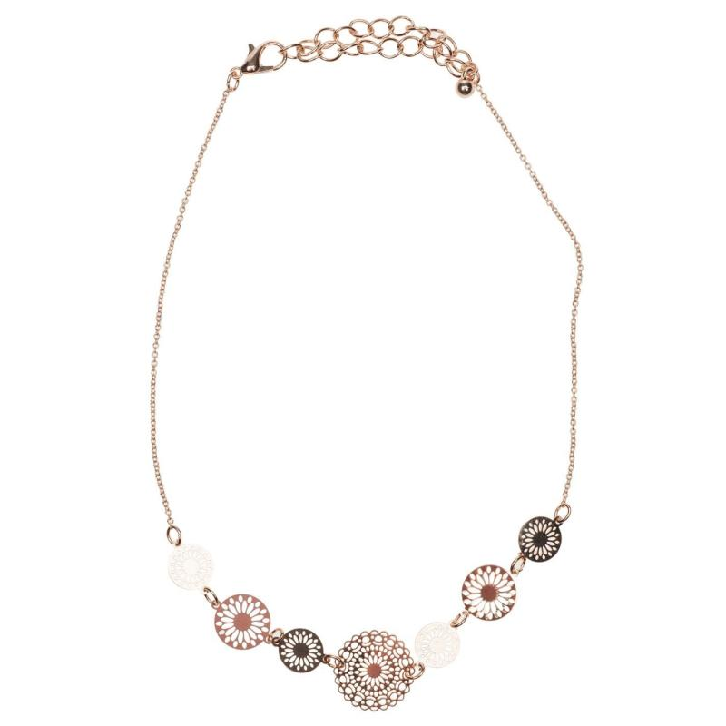 Golddigga Circle Choker Ladies Gold