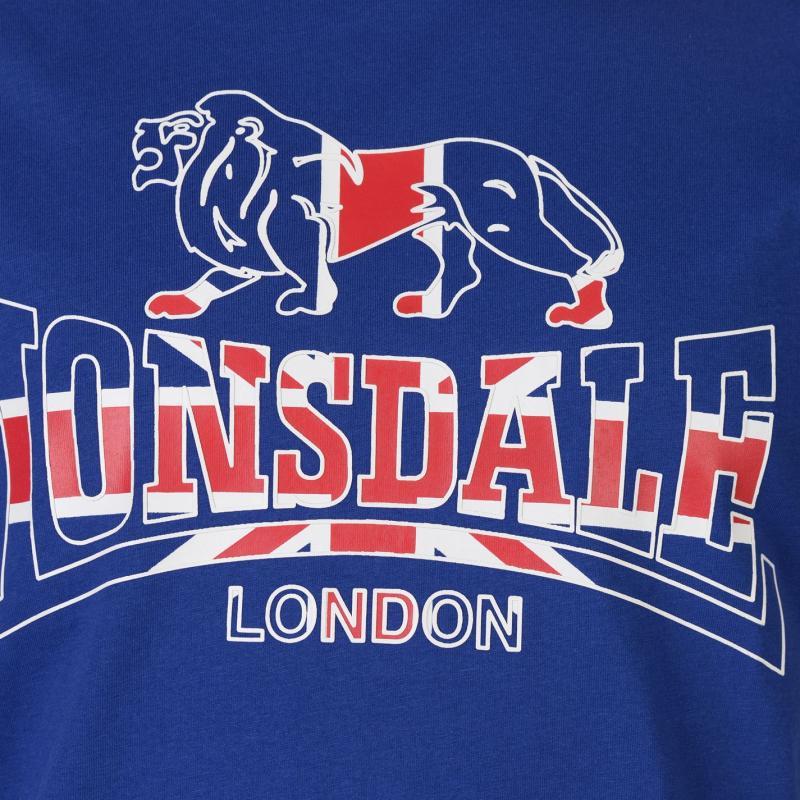 Tričko Lonsdale London Flag T Shirt Royal Blue