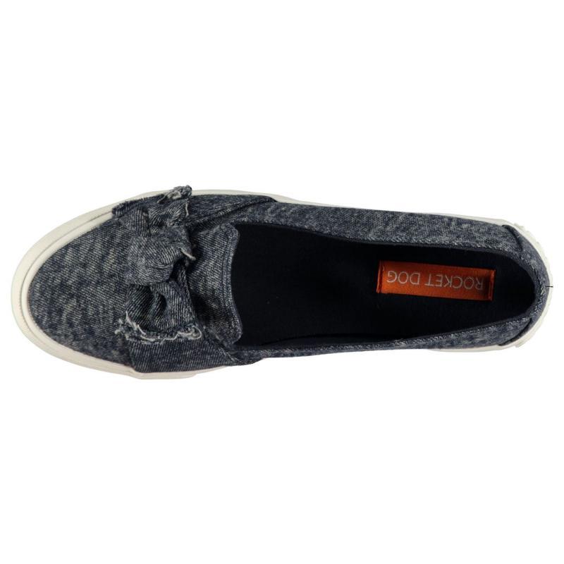 Rocket Dog Clarita Bow Shoes Ladies Stone Wash