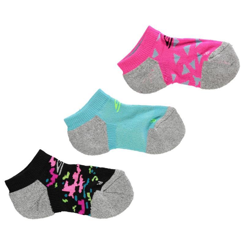 Skechers Cushioned 3 Pack Socks Junior Girls Wht Multi