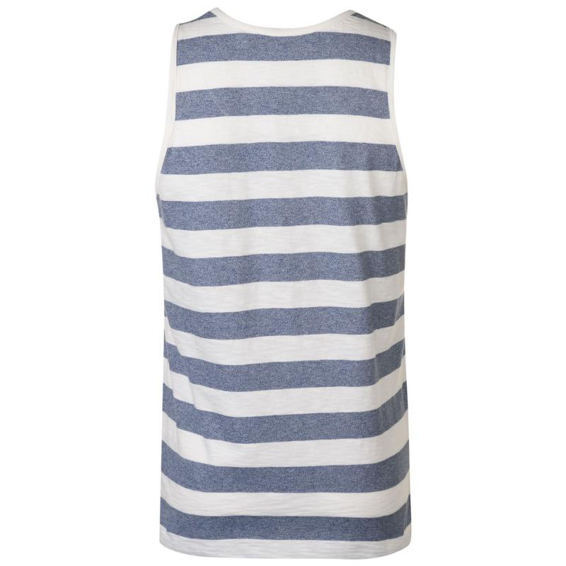 Tílko SoulCal Stripe Vest Mens Navy/White