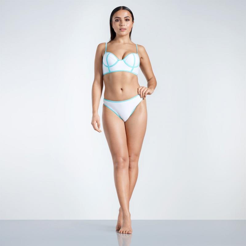 Plavky Golddigga Long Line Bikini Bottoms Ladies White