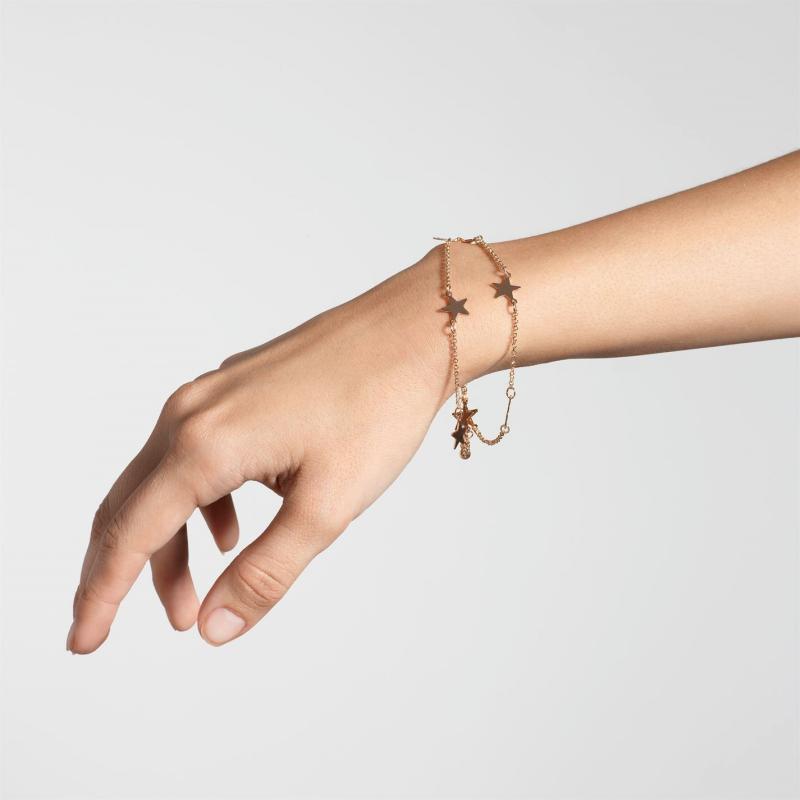 Golddigga Star Bracelet Ladies Gold