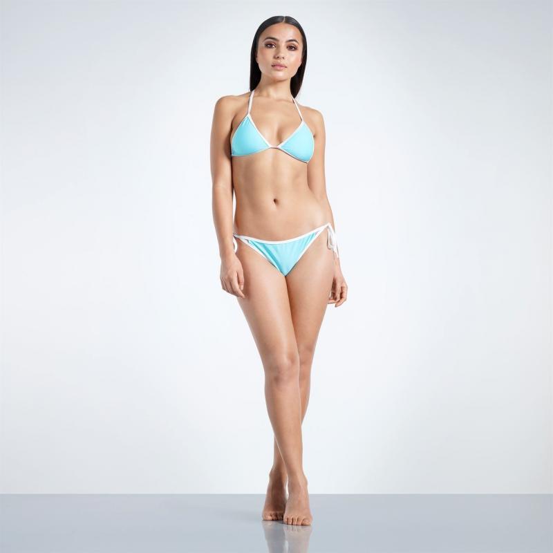Plavky Golddigga Triangle Bikini Bottoms Ladies Teal