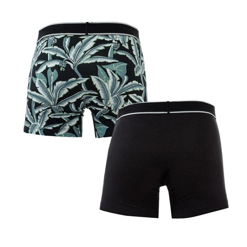 Spodní prádlo Levis Mens Hawaiian Leaf 2 Pack Boxer Shorts Black