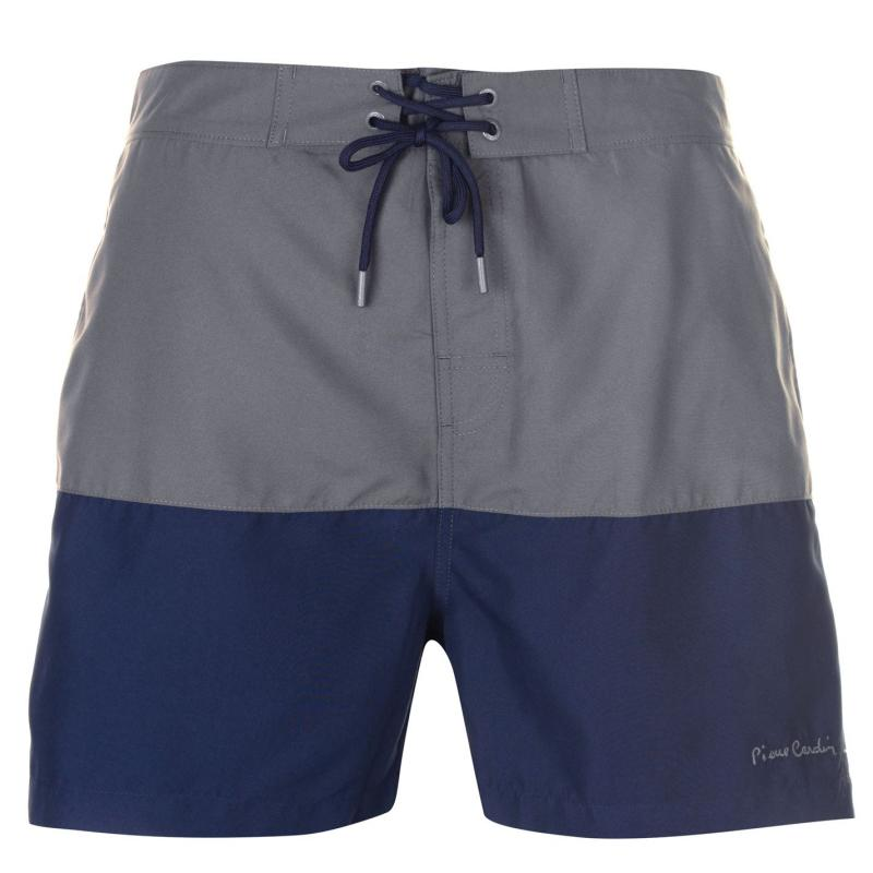 Plavky Pierre Cardin Cut and Sew Swim Shorts Mens Charcoal/Navy