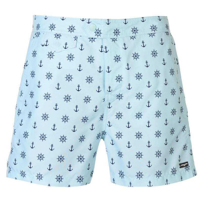 Plavky Pierre Cardin Mix Swim Shorts Mens Sky Anchor