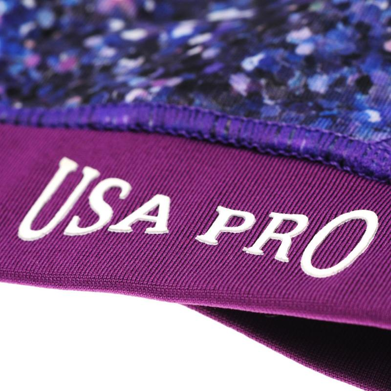 USA Pro Fitness Crop Top Junior Girls Mono Grafitti