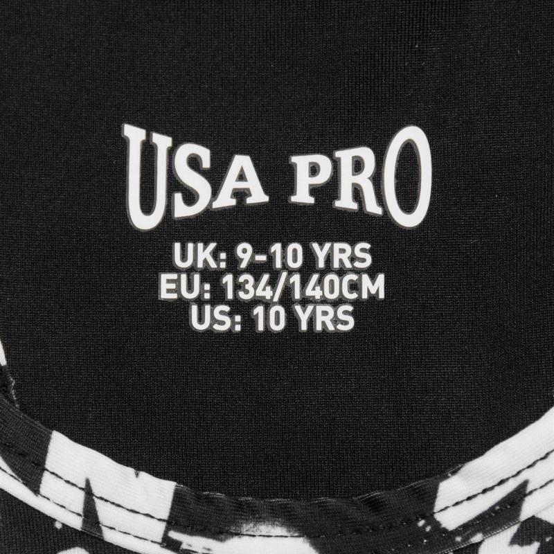 USA Pro Fitness Crop Top Junior Girls Sparkle Print