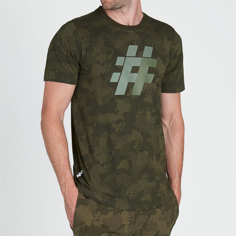 Tričko Five Street Large Logo T Shirt Mens Camo