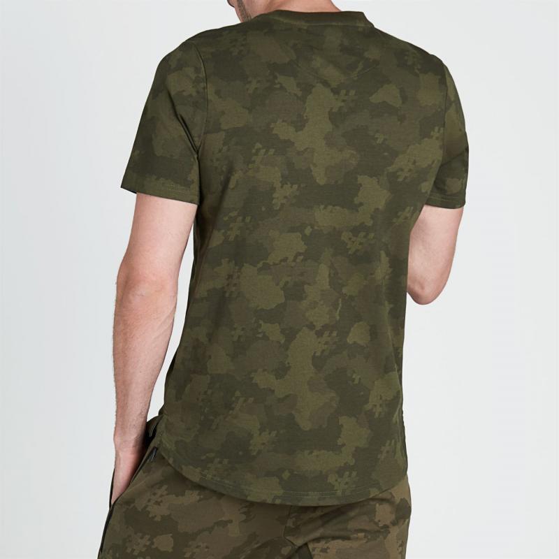 Tričko Five Street Large Logo T Shirt Mens Black Camo