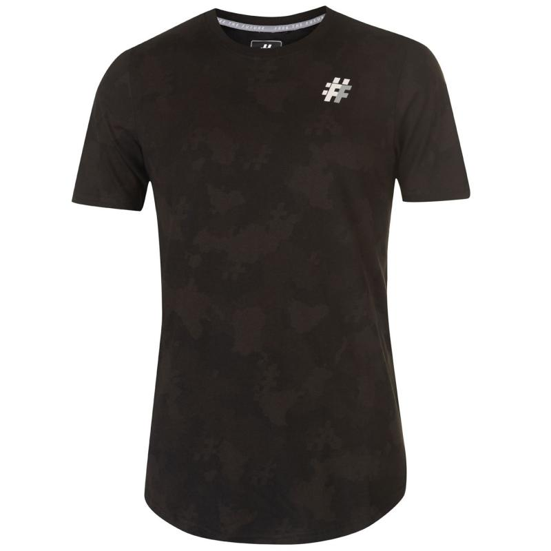 Tričko Five Street Small Logo T Shirt Mens Black Camo