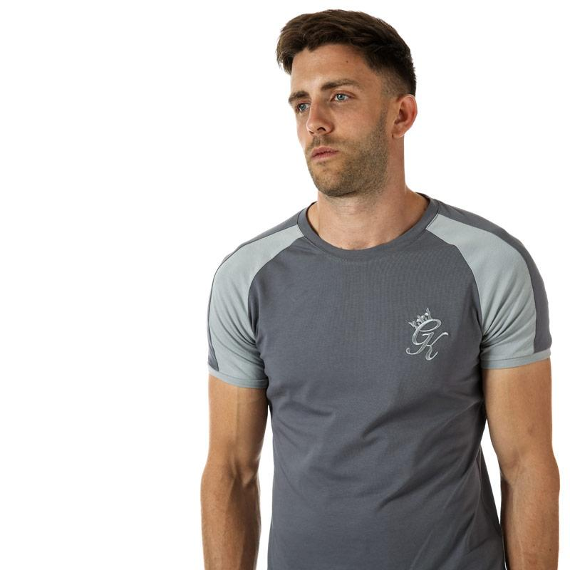 Tričko Gym King Mens GK Longline Retro T-Shirt Grey
