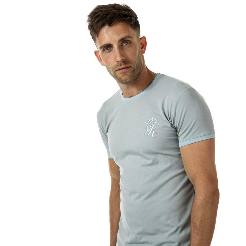 Tričko Gym King Mens GK Ringer T-Shirt Slate grey