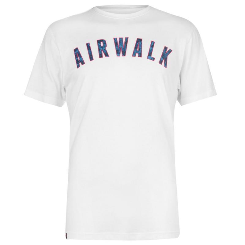 Tričko Airwalk Camo Ringer T Shirt Mens White