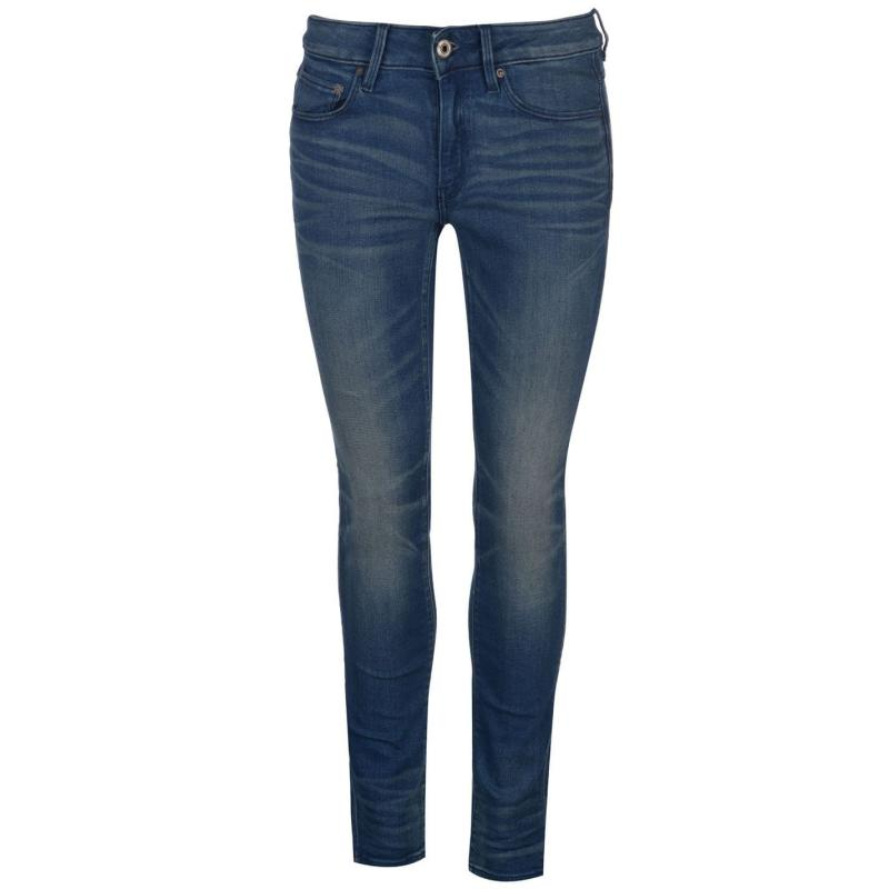 G Star 3301 Contour High Skinny Jeans Ladies medium aged